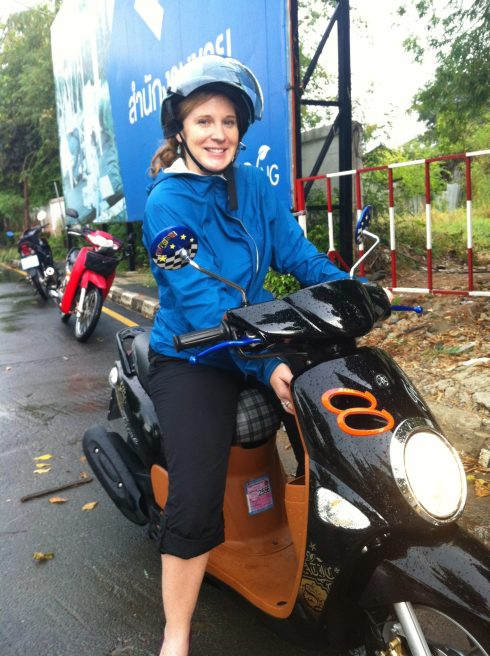 Have motorbike, will travel! *Photo compliments of Shorna