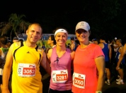 Dan, Jenn, and Bridget, ready for the half-marathon