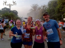 We got toothpaste and medals at the finish line