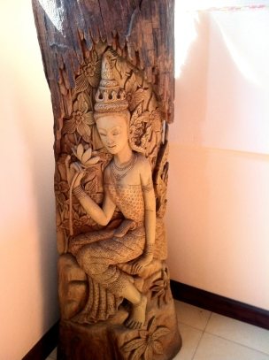 Snazzy wooden carving in our hotel