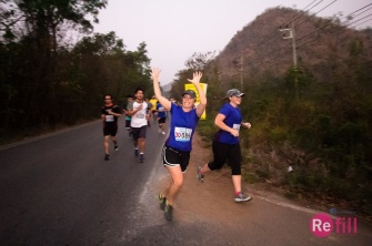 Colby is psyched about running!