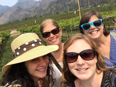 Post-wine tasting selfie!