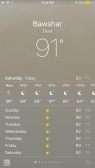 Dust is the weather?